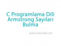 C Programlama Dili Armstrong Sayıları Bulma