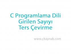 C Programlama Dili Girilen Sayıyı Ters Çevirme