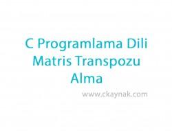 C Programlama Dili Girilen Matrisin Transpozu