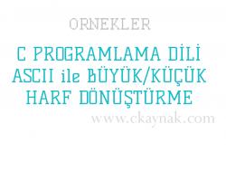C Programlama Dili ASCII ile Büyük Küçük Harf Dönüştürme