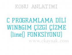 C Programlama Dili WinBGIm Çizgi Çizme (line() Fonksiyonu)