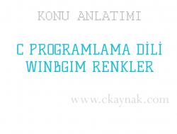 C Programlama Dili WinBGIm Renkler