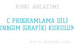 C Programlama Dili WinBGIm Kurulumu (Grafik Ekran)