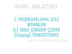 C Programlama Dili WinBGIm İçi Dolu Çokgen (fillpoly() Fonksiyonu)