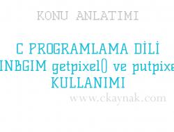 C Programlama Dili WinBGIm getpixel() ve putpixel() Kullanımı