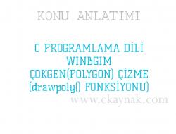 C Programlama Dili WinBGIm Çokgen (Polygon) (drawpoly() Fonksiyonu)